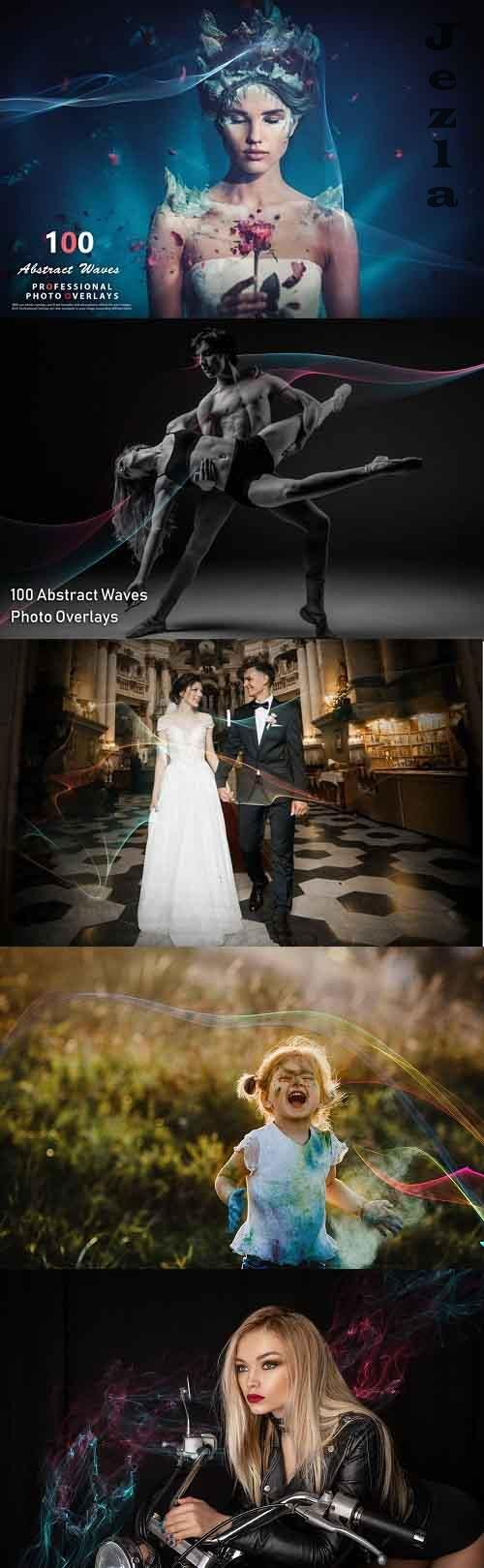 100 Abstract Waves Photo Overlays - 992746