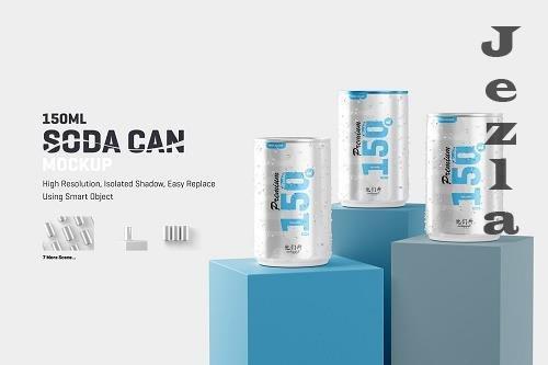 CreativeMarket - 150ml Soda Can Mockup 5865684