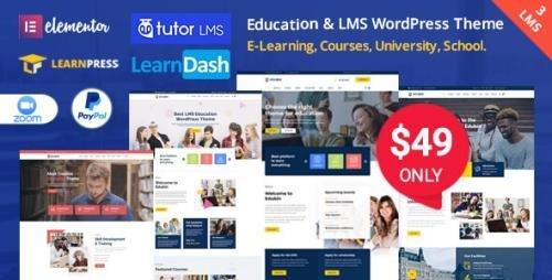 ThemeForest - Edubin v6.9.3 - Education WordPress Theme - 24037792