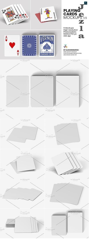 CreativeMarket - Playing Cards Mockups - v.5 5793117