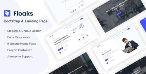 ThemeForest - Floaks v1.0 - Responsive Landing Page Template - 30179315
