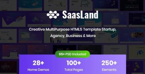 ThemeForest - SaasLand v1.0 - Creative HTML5 Template for Saas, Startup & Agency (Update: 24 July 20) - 22712080