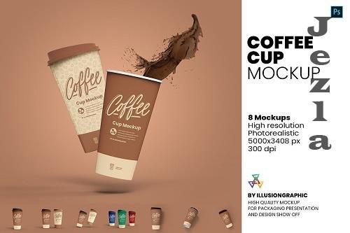 Coffee Cup Mockup - 8 views - 5876160