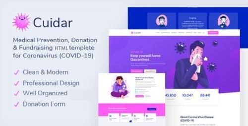 ThemeForest - Cuidar v1.0 - Coronavirus Medical Prevention, Donation & Fundraising HTML Template (Update: 26 November 20) - 29484828
