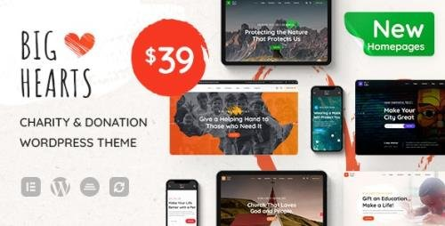 ThemeForest - BigHearts v1.0.7 - Charity & Donation WordPress Theme - 28941982 - NULLED