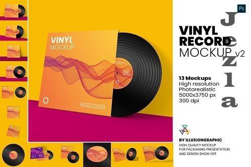 Vinyl Record Mockup v.2 - 5847202