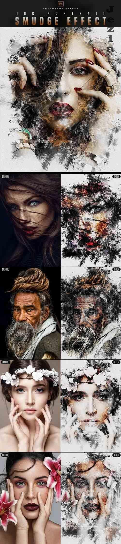 GraphicRiver - Smudge Portrait - PHSP Effect 30177572