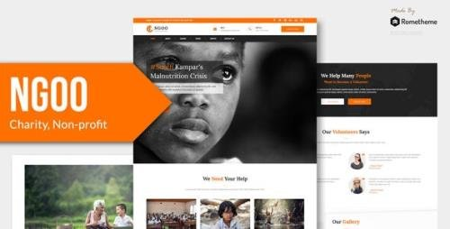 ThemeForest - NGOO v1.0 - Charity, Non-profit, and Fundraising Figma Template - 30350846