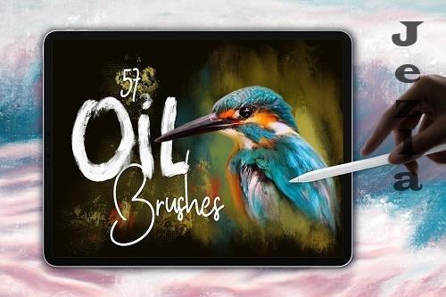 CreativeMarket - Oil Brushes for Procreate 5830141