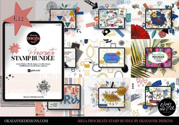 CreativeMarket - Mega Procreate Stamp Bundle 5830645