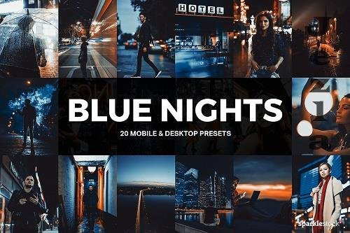 20 Blue Nights Lightroom Presets - 4954407