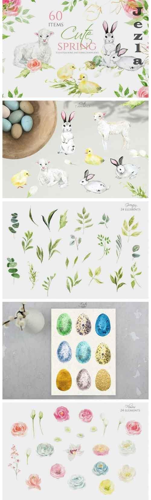 Cute spring clipart - 1205564