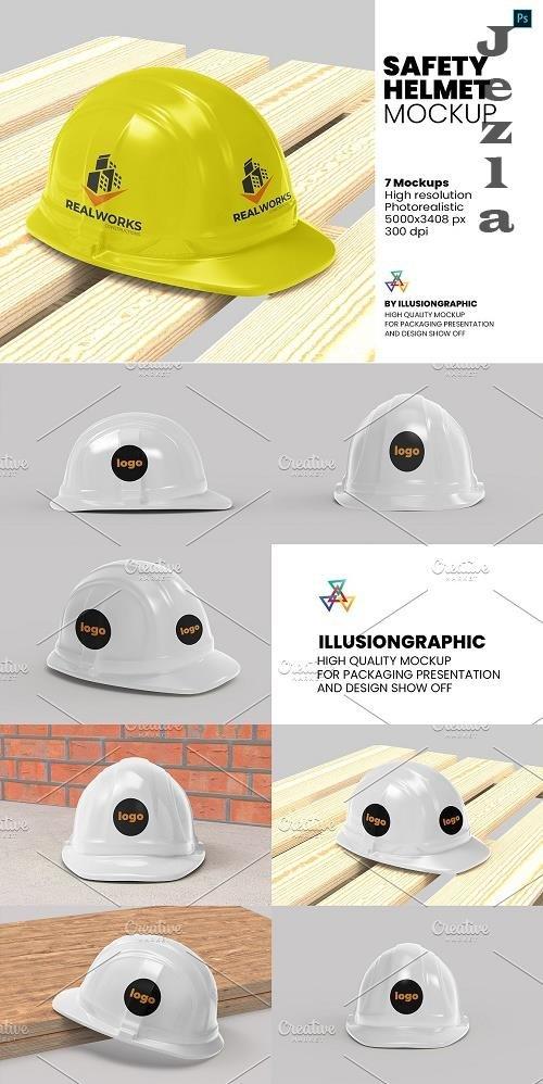 Safety Helmet Mockup - 7 views - 5886070