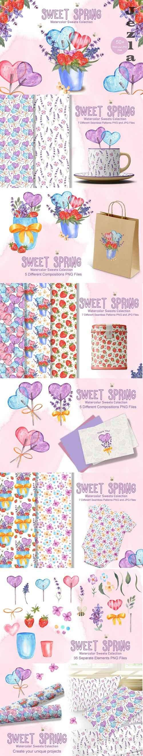 Sweet Spring Watercolor Collection - 5888017