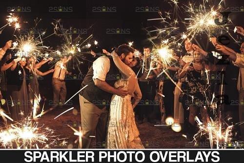 Sparkler overlay & Photoshop overlay Christmas overlay - 1131504