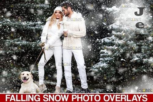 Snow overlay & Christmas overlay. PHSP overlay - 1131574