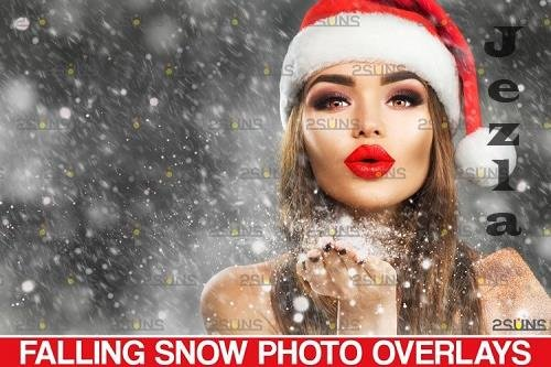 Falling snow overlay for PHSP & Christmas overlay - 1131564