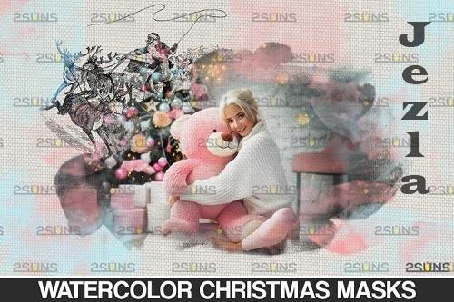 Christmas watercolor overlay & Christmas overlay - 1131799