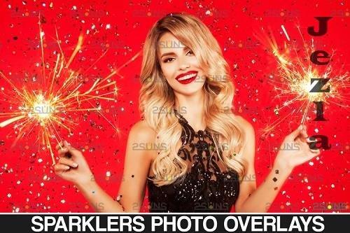 Sparkler overlay & Christmas overlay, Photoshop overlay - 1131801
