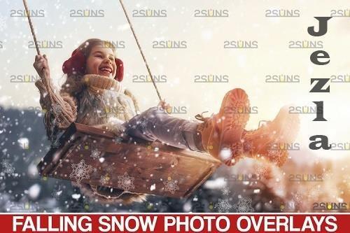 Snow overlay & Christmas overlay. Photoshop overlay - 1131532