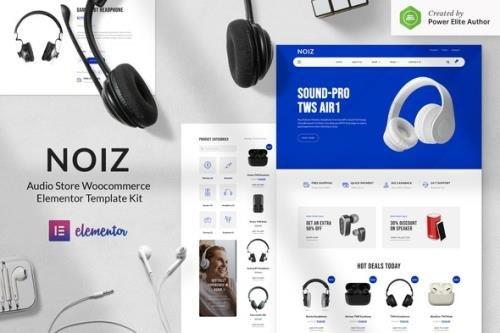ThemeForest - Noiz v1.0.0 - Audio Store WooCommerce Elementor Template Kit - 30445704