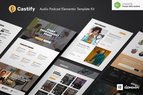 ThemeForest - Castify v1.0.0 - Audio Podcast Elementor Template Kit - 30457858