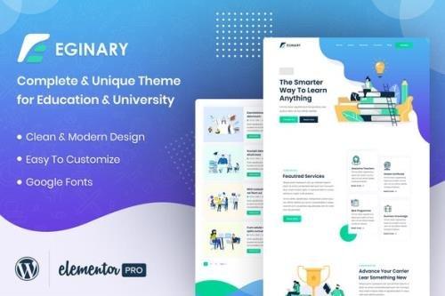 ThemeForest - Eginary v1.1.0 - Online Education Elementor Template Kit - 30264556