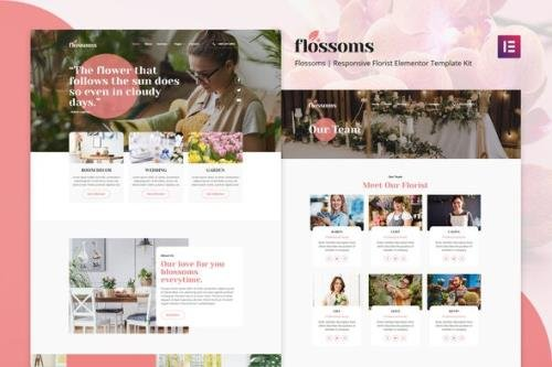 ThemeForest - Flossom v1.0.0 - Flower Shop Elementor Template Kit - 30389269