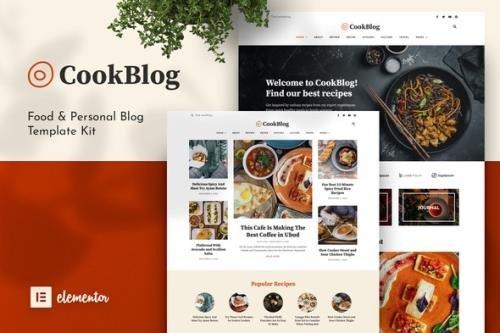 ThemeForest - CookBlog v1.0.0 - Food & Personal Blog Elementor Template Kit - 30439028