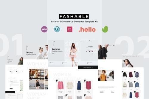 ThemeForest - Fashable v1.0.0 - Stylist eCommerce Elementor Template Kit - 30297622