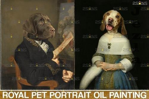 Royal Pet Portrait templates vol.14, Pet Painting - 1132905