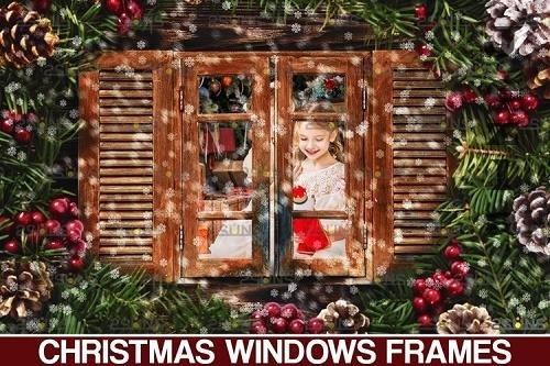 Window Frames Overlays Christmas Freeze Holiday PHSP - 1132948