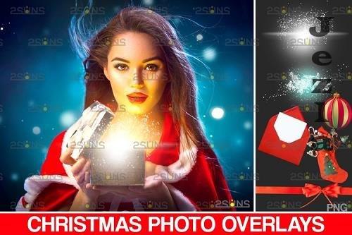 Christmas overlay & Sparkler overlay, Photoshop overlay - 1132935