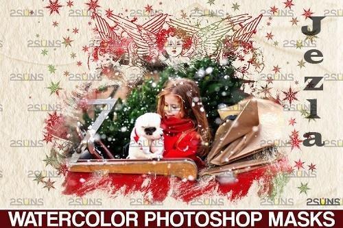 Christmas watercolor overlay & Christmas overlay - 1132930