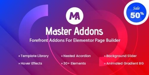 CodeCanyon - Master Addons v1.5.6 - Forefront Addons for Elementor - 25029297 - NULLED