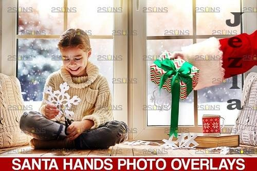 Christmas overlays Santa Claus Hand clipart png PHSP - 1132933