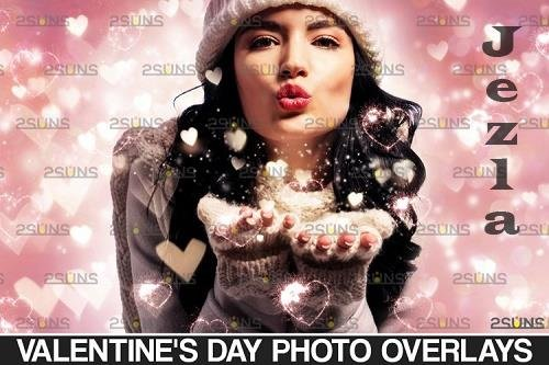 Valentine's photo overlays, PHSP, blowing heart, kiss - 1132956