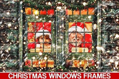 Window Frames Overlays Christmas Freeze Holiday PHSP - 1132950