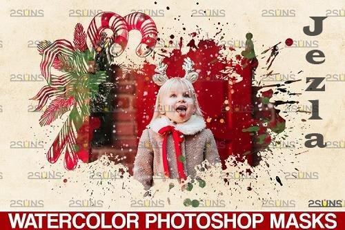 Christmas watercolor overlay & Christmas overlay - 1132932