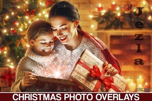 Christmas overlay & Sparkler overlay, Photoshop overlay - 1132936