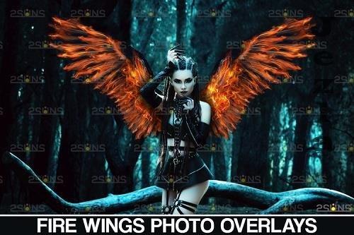 Fire wings overlay & Halloween overlay, Photoshop overlay - 1132961