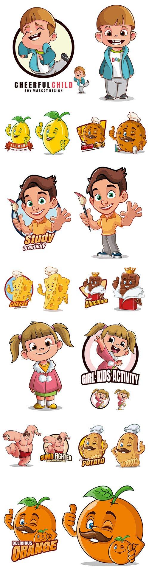 Mascot funny cartoon character design illustration 2