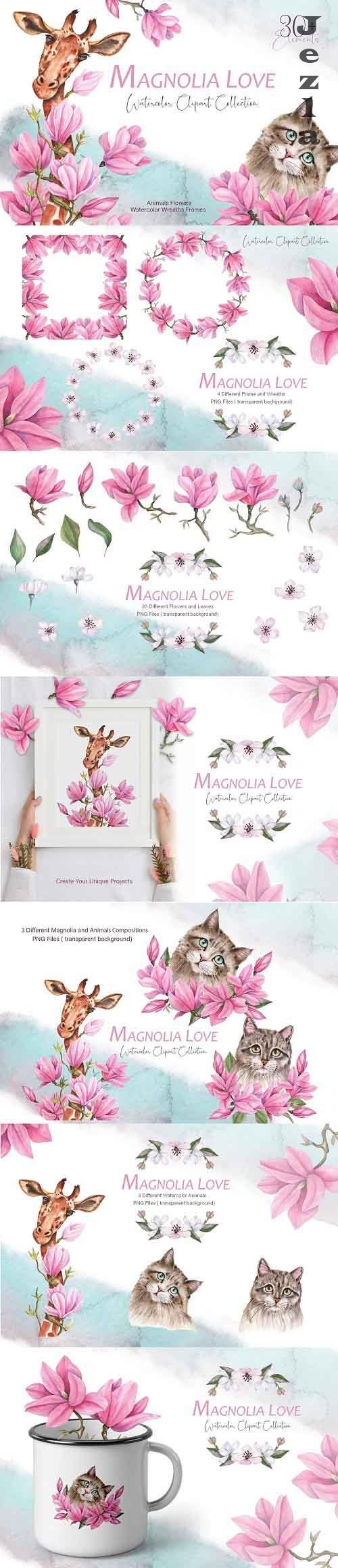 Magnolia Love Watercolor Collection -  5892025
