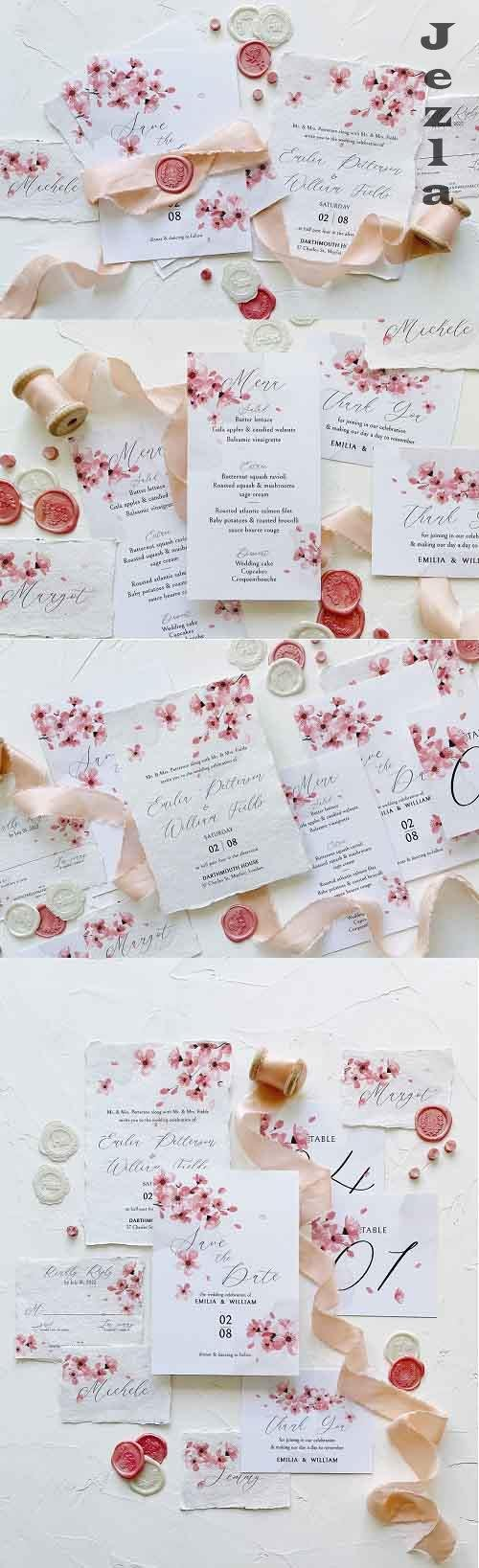 Pink Cherry Blossom Wedding Suite - 5831699