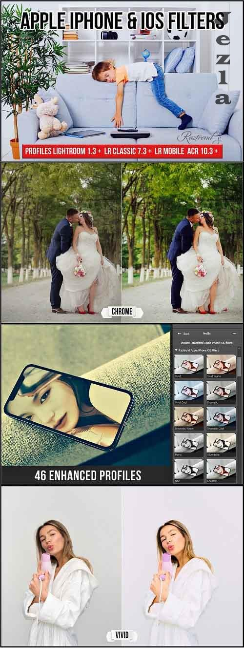 CreativeMarket - Apple iPhone & iOS Filters profiles 5745341