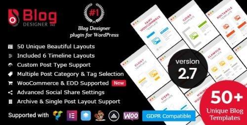 CodeCanyon - Blog Designer PRO for WordPress v2.7.7 - 17069678 - NULLED