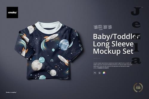 Baby Toddler Long Sleeve Mockup Set - 4606420