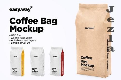 CreativeMarket - Paper Coffee Bag PSD Mockup 5731852