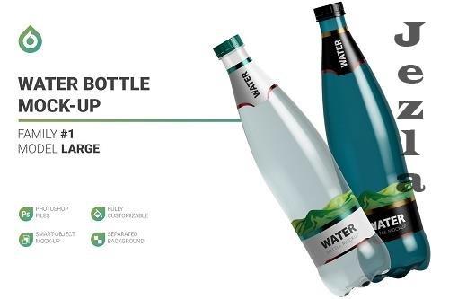 CreativeMarket - Water Bottle Mockup 5789009