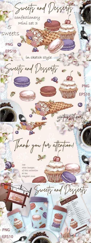 Sweets and desserts. Mini-set 3 - 1212431